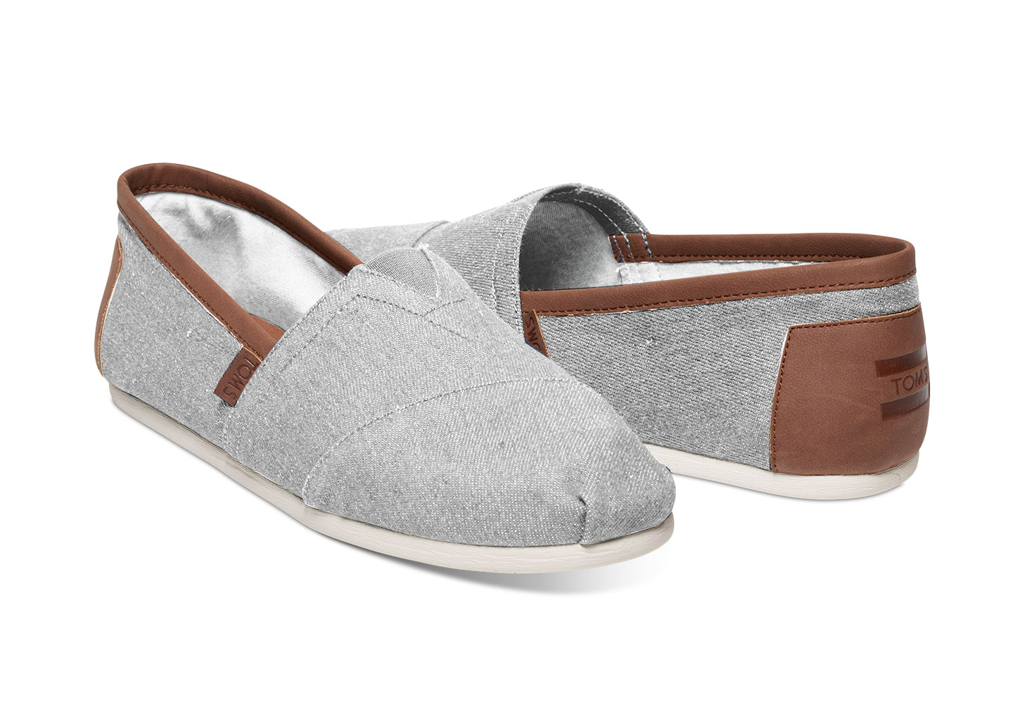 900758aee30 TOMS Frost Grey Chambray Men s Classics - Dance Like a Vegan