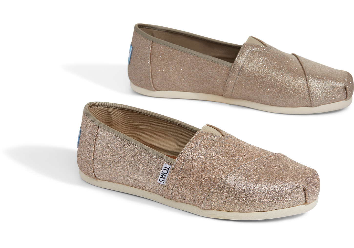 7f6eef4f5b0 TOMS Rose Gold Glimmer Women s Classics - Dance Like a Vegan